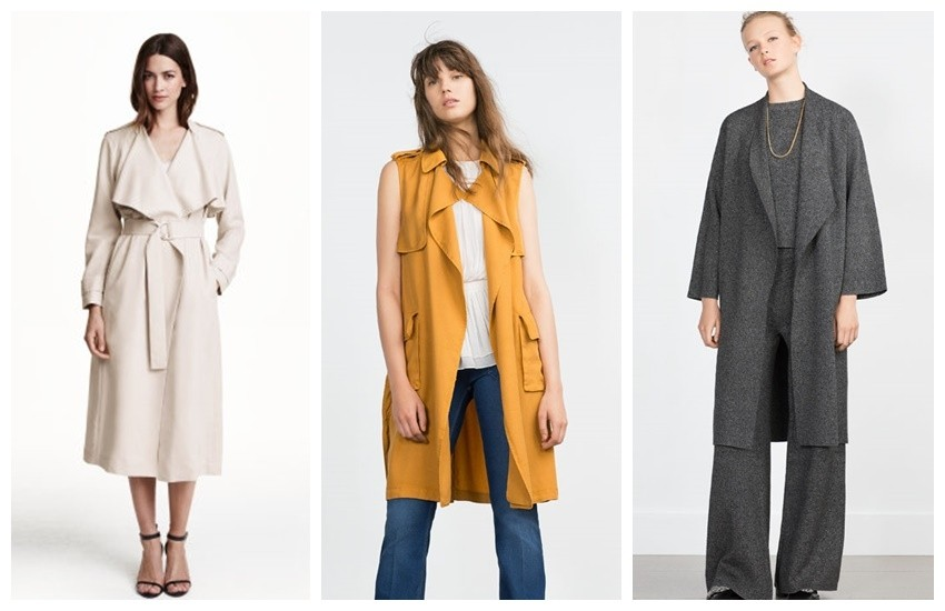 H&M Trenchcoat $79.99, Zara LONG WAISTCOAT 359.90 HRK, Zara KNIT COAT 459.90 HRK