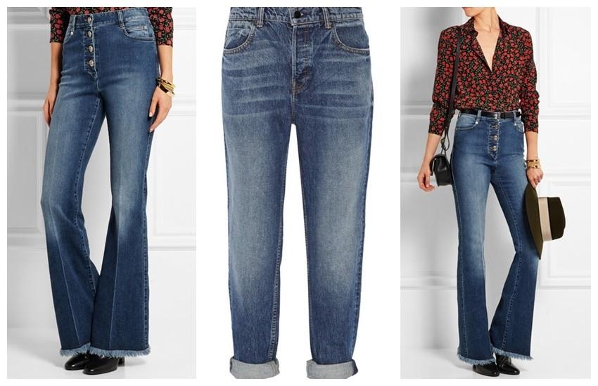 SONIA RYKIEL High-rise flared jeans // Alexander Wang Boyfriend jeans
