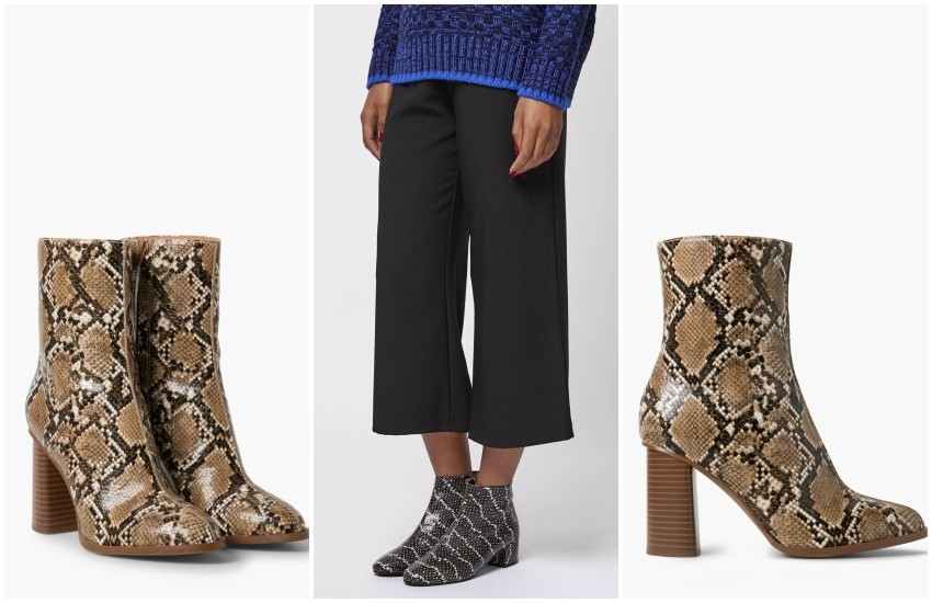 MANGO SNAKE-EFFECT ANKLE BOOTS // Topshop BETTY Snake-Effect Boots