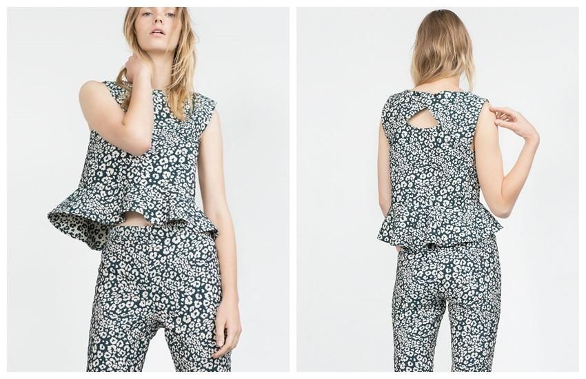 Zara Peplum Top (99,90 HRK)