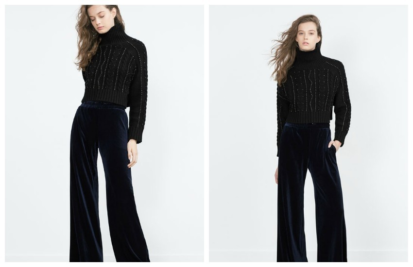 ZARA WIDE-LEG VELVET TROUSERS 169.90 HRK