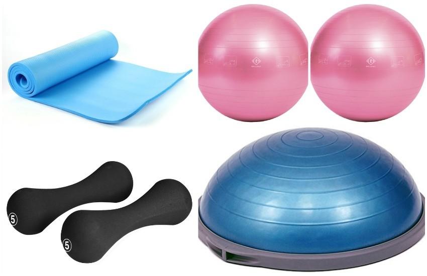Podmetač, bućice, pilates lopta i Bosu - spremni za trening!