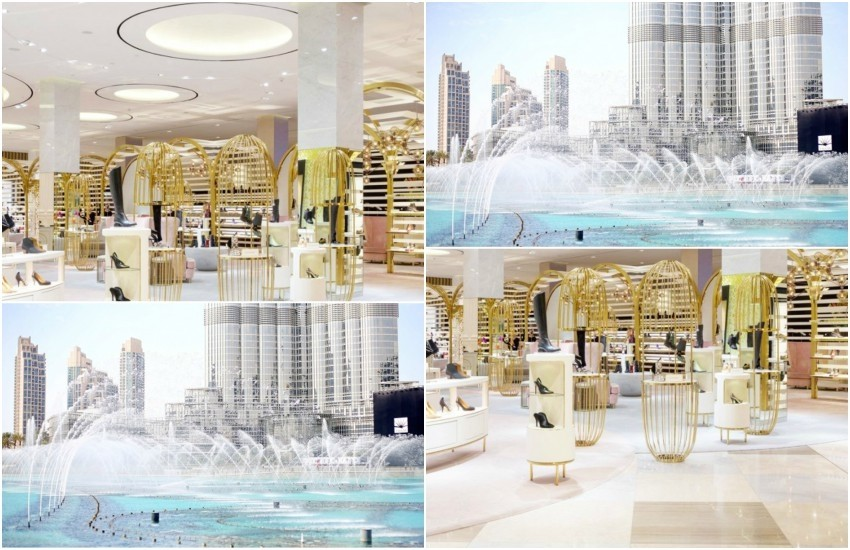 Slika: Level Shoe District, The Dubai Mall, via Harper's Bazaar // Camille