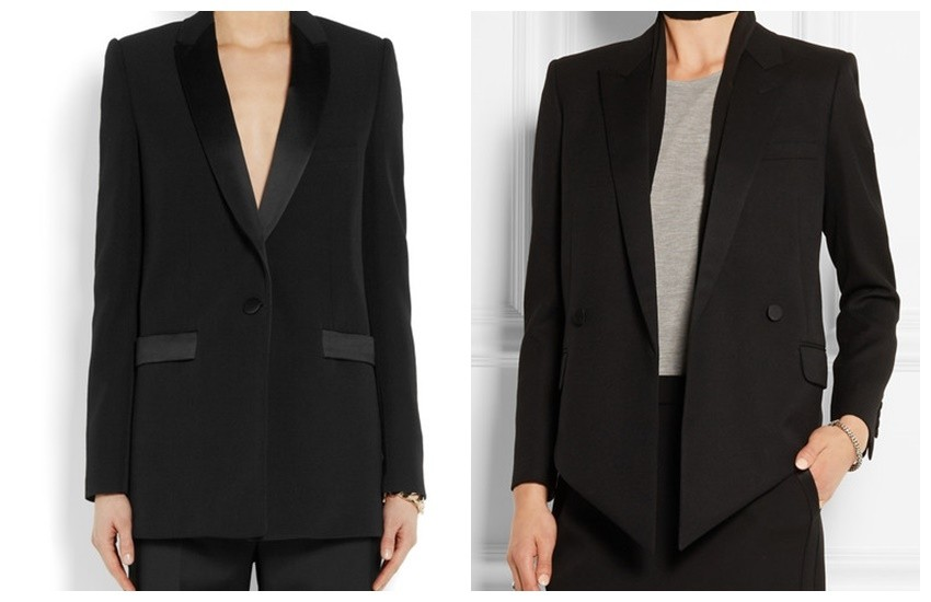 GIVENCHY Black wool jacket with satin details