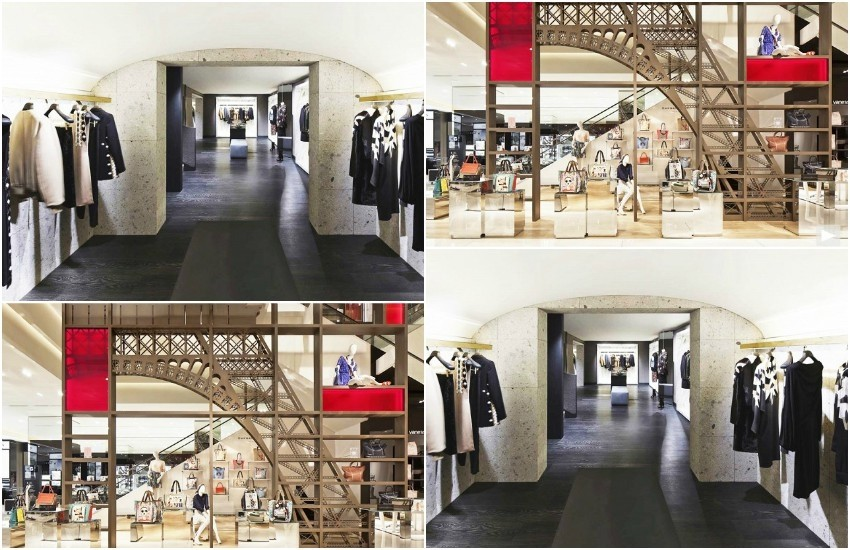 Slika: Galeries Lafayette via diephotodesigner // Givenchy store, JC Vincent for Yellowtrace, design by Joseph Dirand