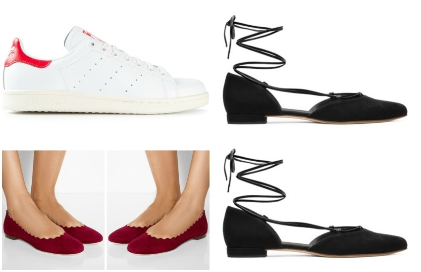 ADIDAS ORIGINALS  'Stan Smith' sneakers // CHLOÉ Lauren suede ballet flats // Stuart Weitzman THE GILLIGAN FLAT