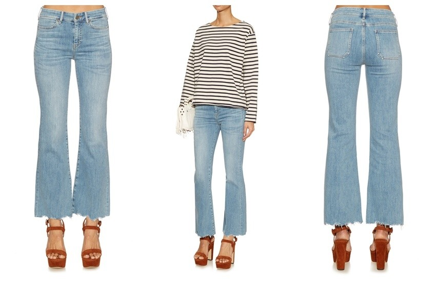M.I.H JEANS Lou high-rise flared cropped jeans £225