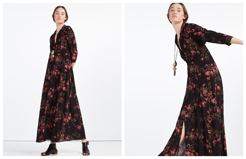 ZARA LONG DRESS WITH FLORAL PRINT 349.90 Kn