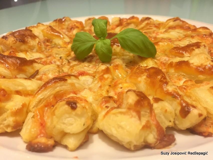 Pizza s lisnatim tijestom - Suncokret, Suzy Josipović Redžepagić