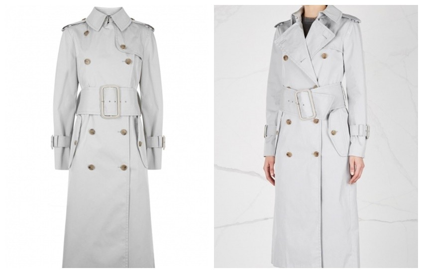 MAISON MARGIELA Grey cotton blend trench coat £1,665.00