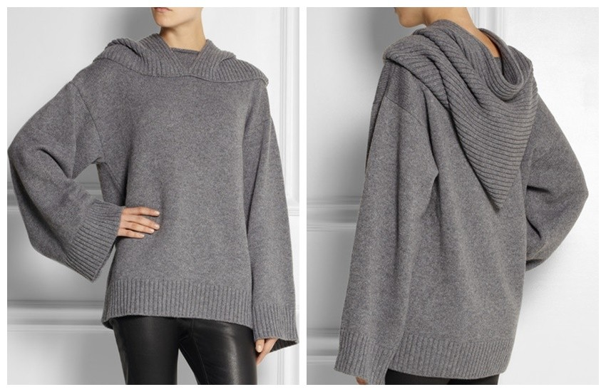 DOLCE & GABBANA Hooded cashmere sweater $1,587