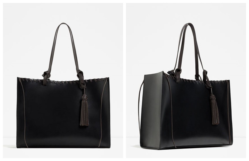 ZARA TASSELLED LEATHER TOTE  599.90 Kn