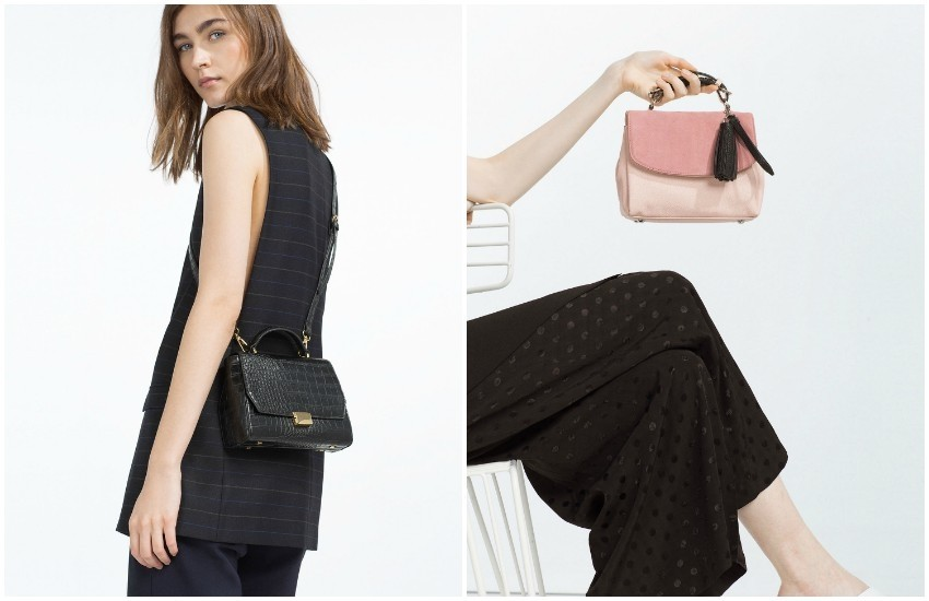 ZARA MINI CITY BAG 249.90 Kn // ZARA CONTRAST MATERIAL CITY BAG 299.90 Kn