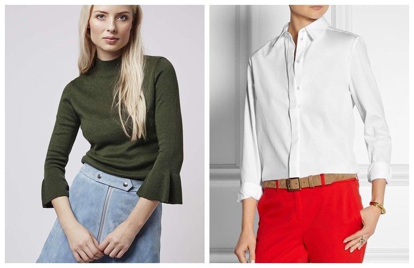 Topshop Fluted Cuff Top // VICTORIA, VICTORIA BECKHAM Cotton shirt