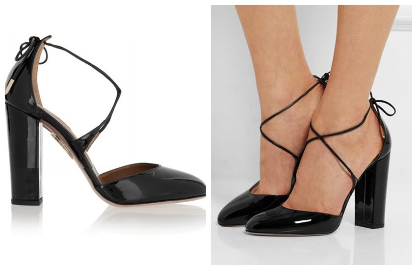 AQUAZZURA Karlie patent-leather pumps £440