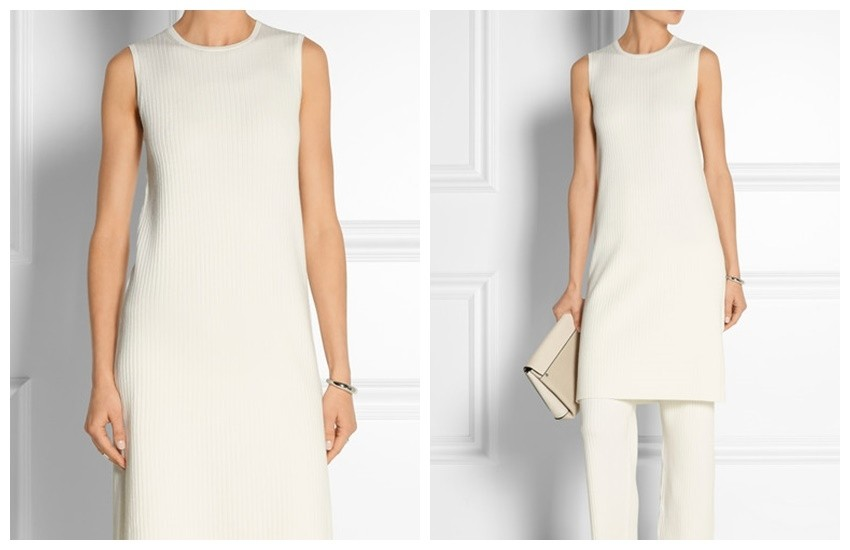 THEORY Ribbed stretch wool-blend dress £305