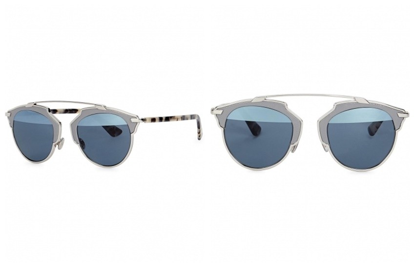 CHRISTIAN DIOR Dior So Real mirrored clubmaster-style sunglasses  £539.00