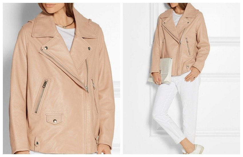 ACNE STUDIOS Swift oversized leather biker jacket £1,300