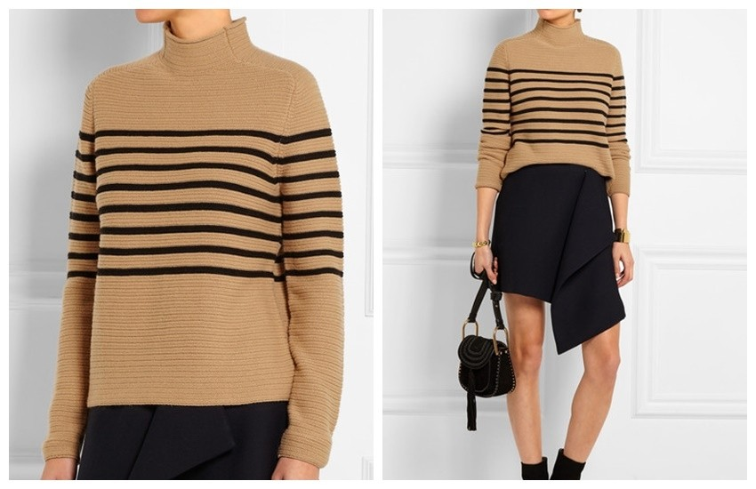 TOPSHOP UNIQUE Broadwick striped wool and cashmere-blend sweater £160