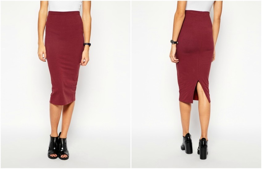 ASOS Midi Pencil Skirt in Jersey $26.00
