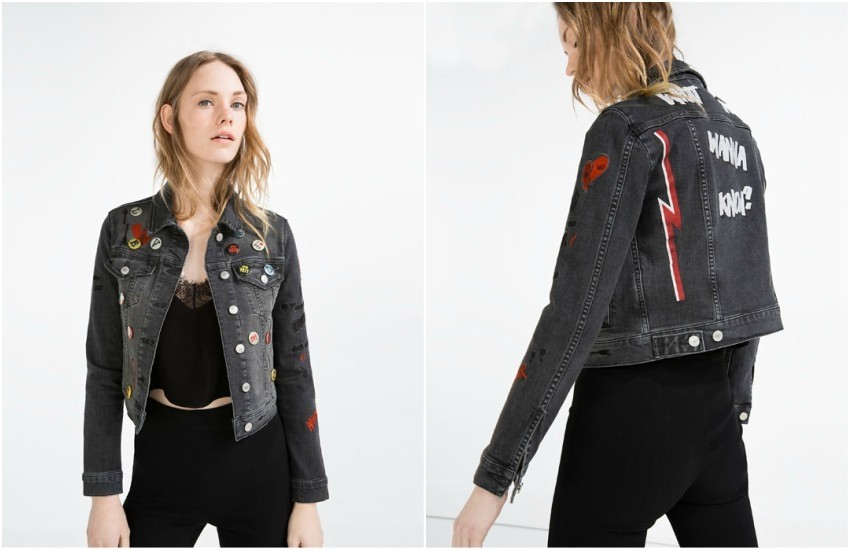 ZARA EMBROIDERED DENIM JACKET WITH BADGES  349.90 Kn