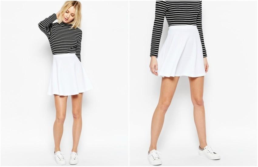 ASOS Skater Skirt in Texture $28.00