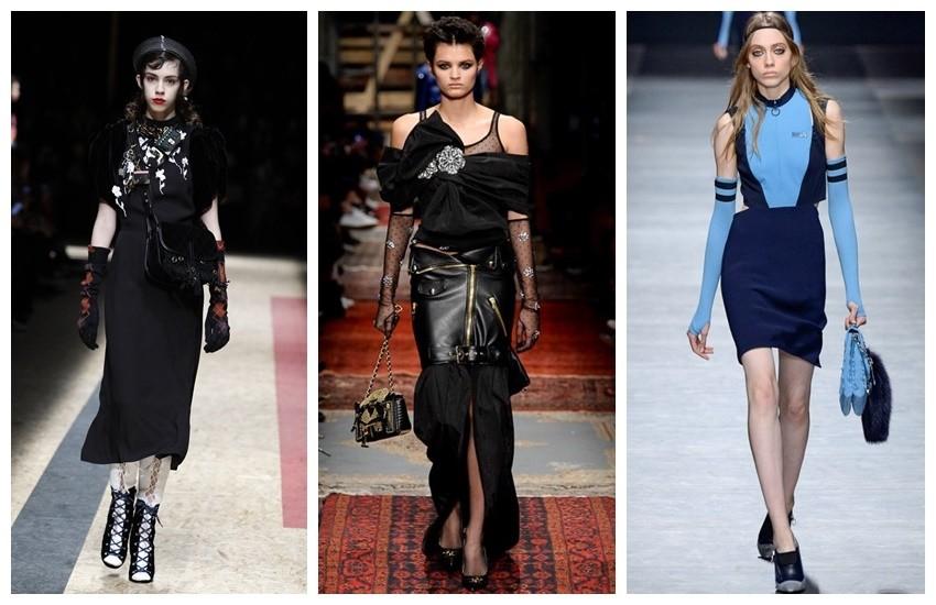 Prada, Moschino, Versace