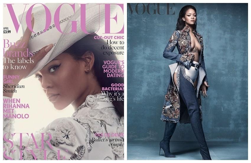Rihanna za Vogue UK u čizmama Rihanna x Manolo Blahnik