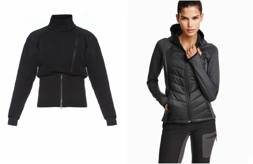 ADIDAS BY STELLA MCCARTNEY Slim ski jacket / H&M Padded lightweight jacket