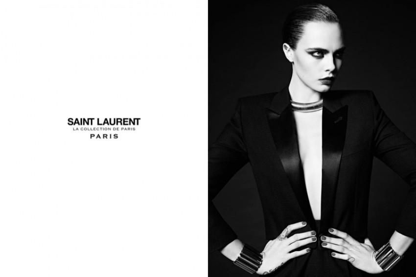 Cara Delevingne za Saint Laurent