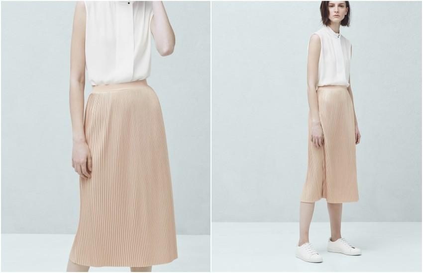 Mango Metallic pleated skirt £39.99