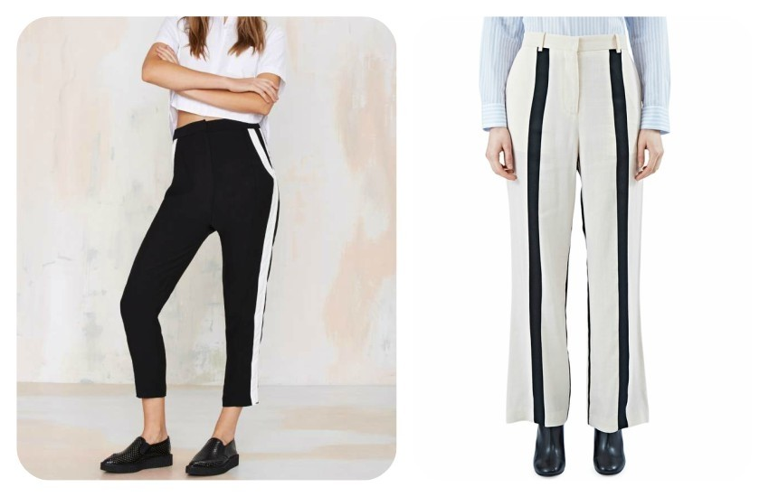 Finders Keepers The Rewind Striped Pant 462,91 kn / ACNE STUDIOS  women's obel li striped pants in pale nude and black €400