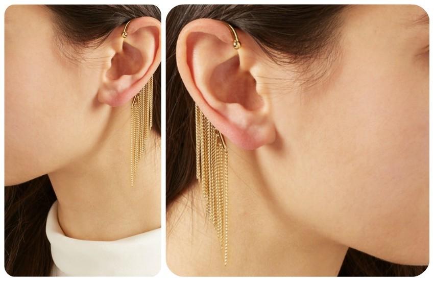 CHLOÉ Delfine gold-tone earring
