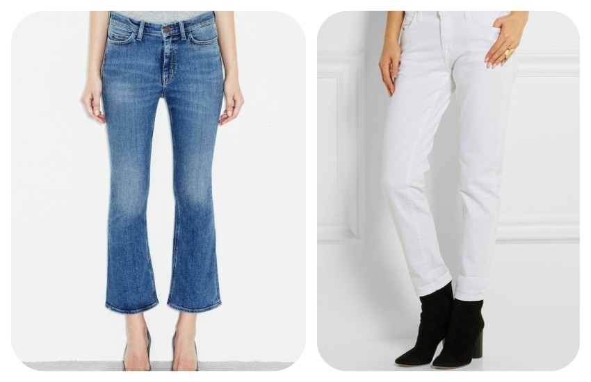 M.i.h Jeans Marty Jean High rise cropped flare £225.00 / CURRENT/ELLIOTT The Fling mid-rise slim boyfriend jeans £180