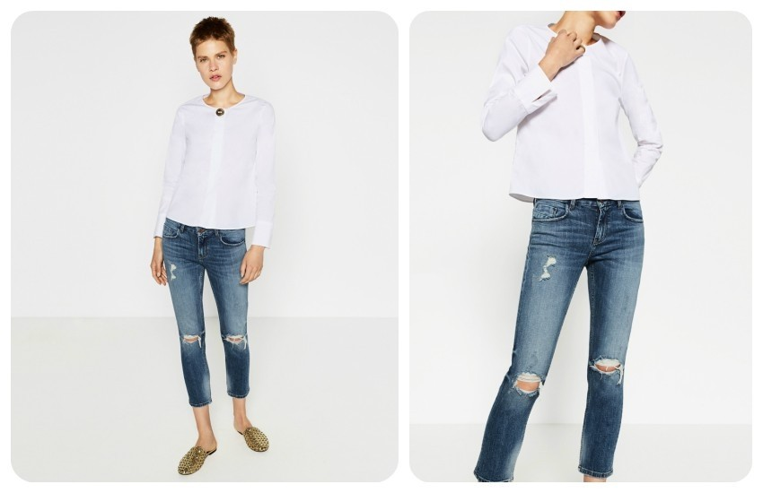 ZARA CROPPED MID-RISE JEANS  249.90 Kn