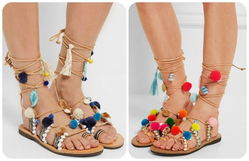 MABU BY MARIA BK Embellished leather sandals £140