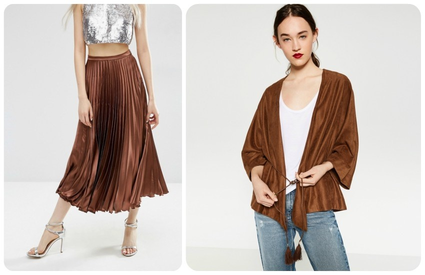 ASOS Midi Skirt in Pleated Satin £35.00 / ZARA LEPRŠAVA JAKNA S POJASOM 99.90kn