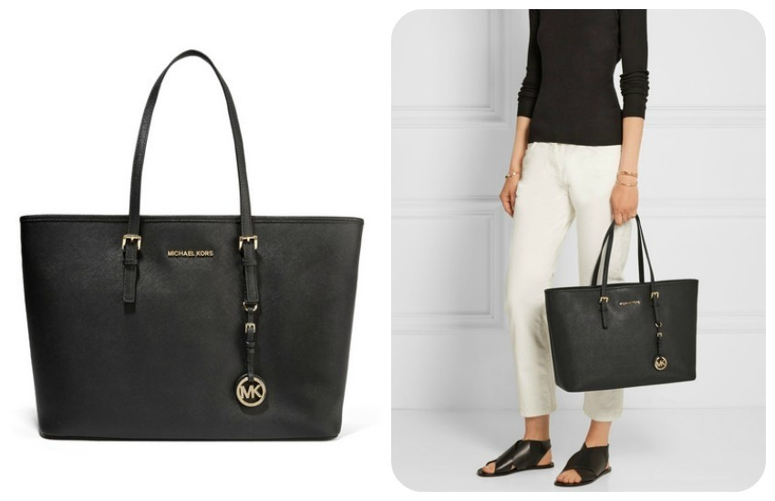 MICHAEL MICHAEL KORS Jet Set Travel textured-leather tote $280