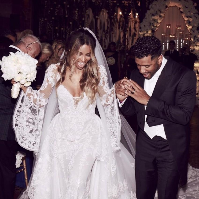 Ciara nosi Cavalli Couture vjenčanicu