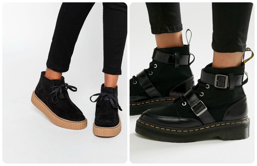 ASOS ANYAN Creeper Lace Up Boots £35.00 / Dr Martens Masha Creeper Boots £130.00