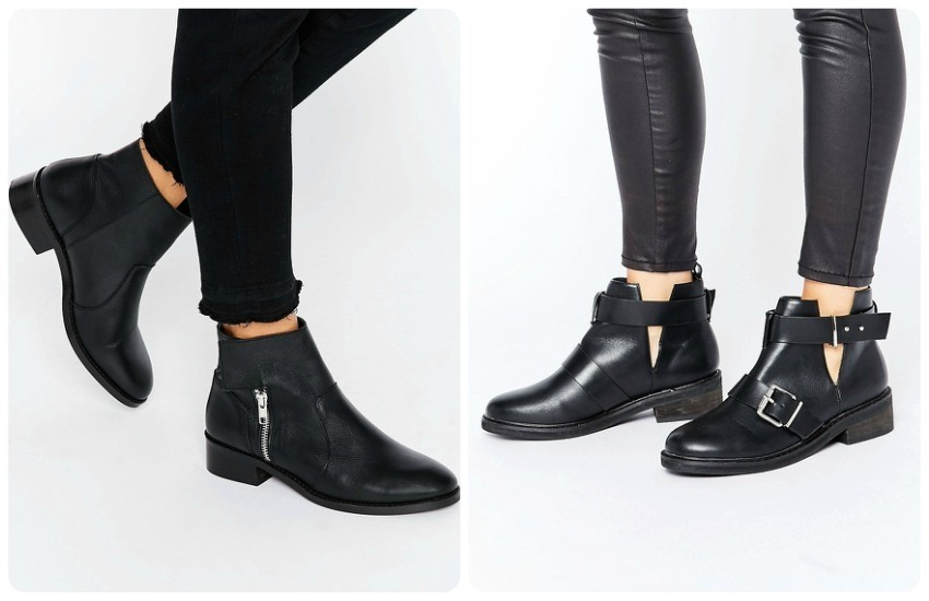 ASOS AMPLIFY Leather Biker Boots £45.00 / Pimkie Biker Boot £26.99