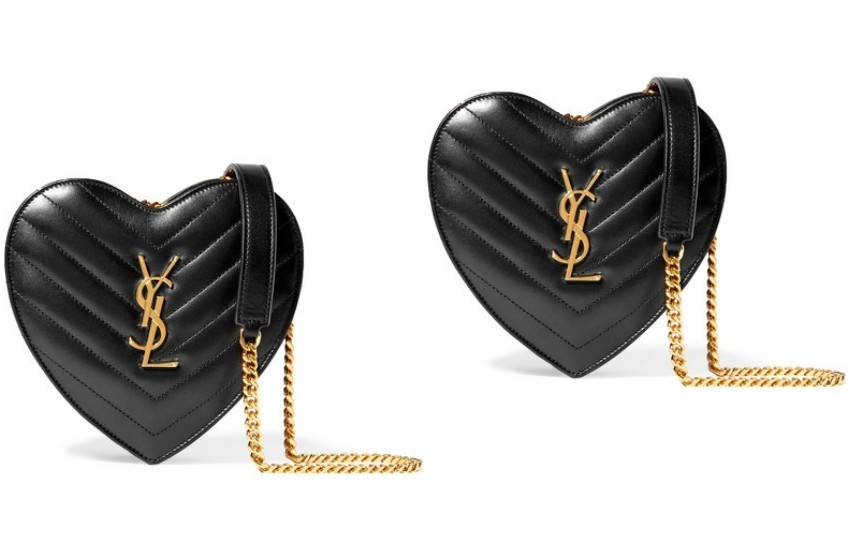 SAINT LAURENT Love small quilted leather shoulder bag £760