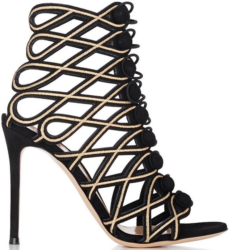 Gianvito Rossi Vendome lattice cage sandal