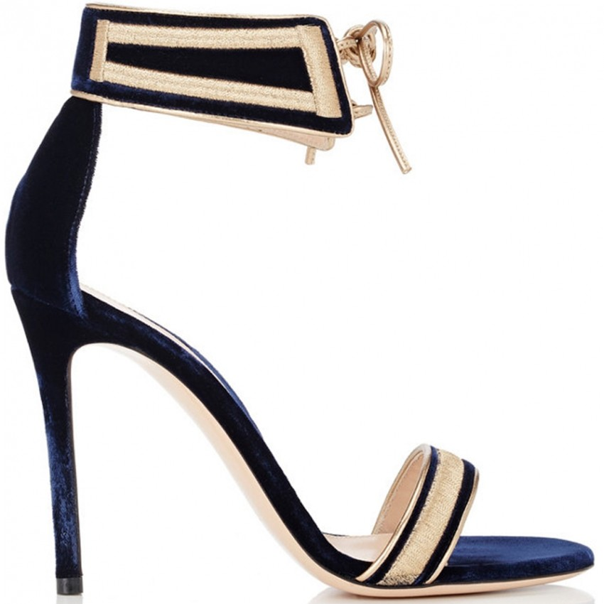 Gianvito Rossi August regal velvet ankle-cuff sandal