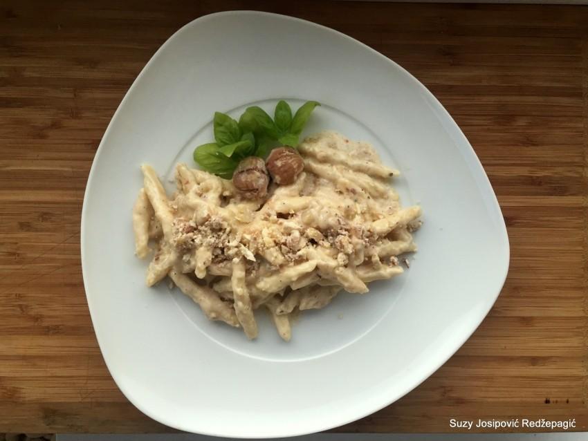 Recept: tjestenina s kestenjem