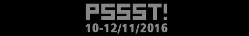 10. PSSST! Festival nijemog filma 10.11.2016 - 12.11.2016.