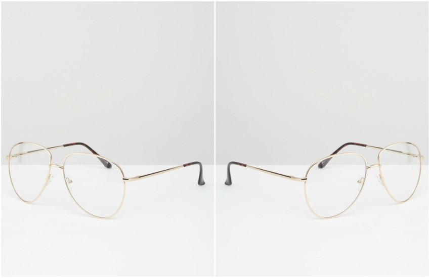 ASOS Geeky Metal Frame Clear Glasses £12.00