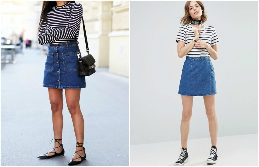 FASHION LANDSCAPE // ASOS Denim Wrap Skirt in Mid Wash Blue