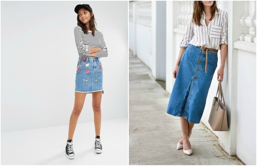 River Island Badge Detail Denim Skirt // EJ STYLE