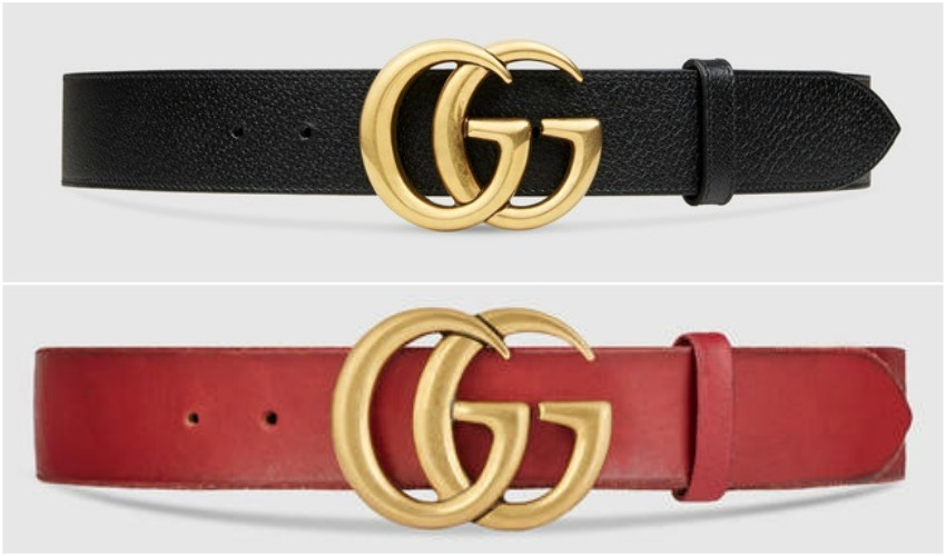 Gucci Leather belt with double G buckle $ 420